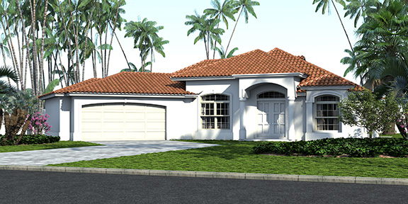 Avantgarde Design Home Builders Florida Pine Island Front View